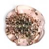 Glass Lamp Bead 30mm Round Flat Cut Rosaline/Bronze Centre